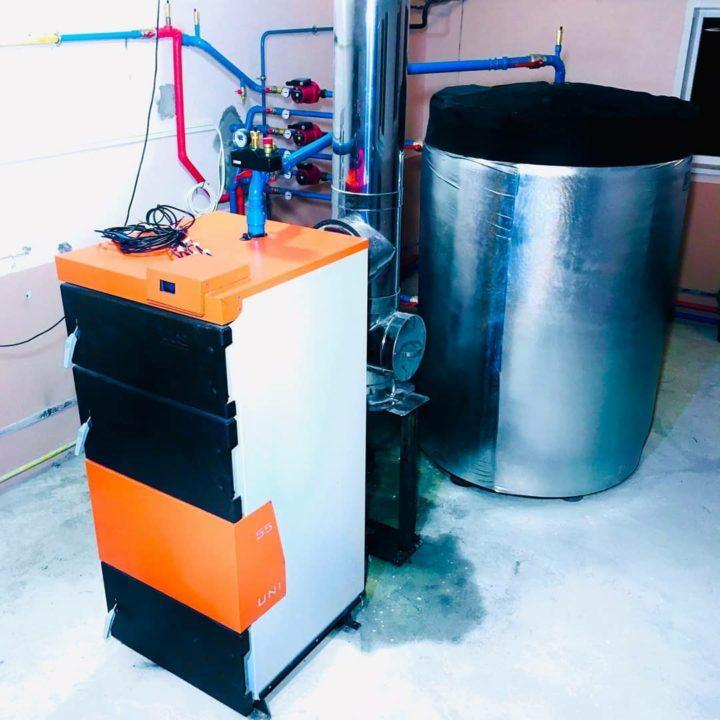 dom_kotlov_монтаж и установка твердотопливного котла с буферным баком в минском районе