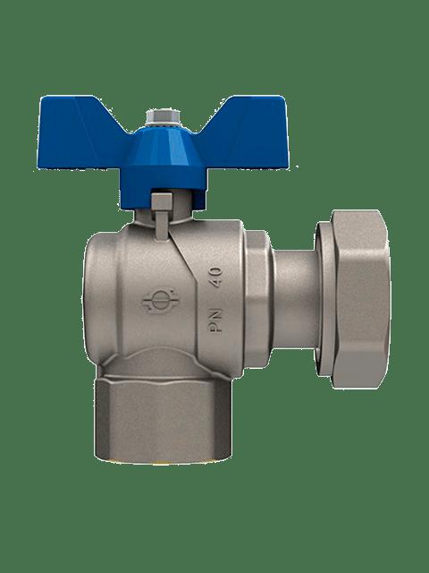 Кран-шаровый-запорный-с-накидной-гайкой-FIV-6069R-синий