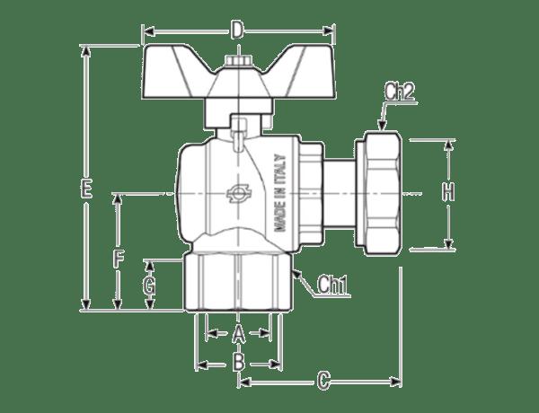 Размеры-шаровых-кранов-FIV-6069R