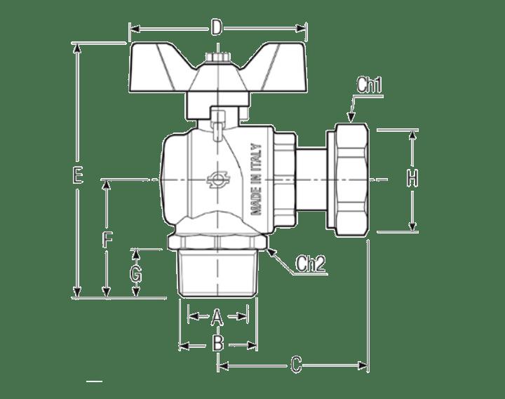 Размеры-шаровых-кранов-FIV-6071R