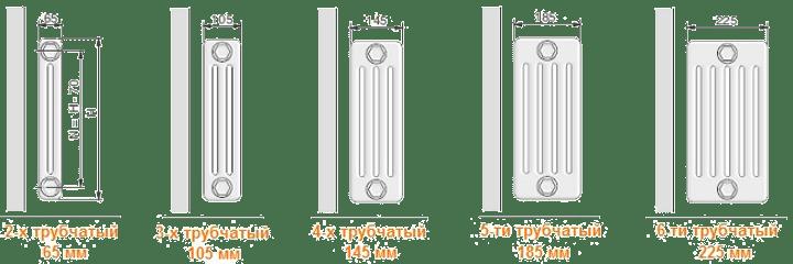 глубина-стальных-трубчатых-радиаторов-arbonia