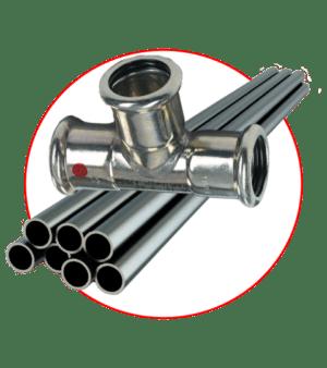 Стальные трубы SANHA Therm и фитинги