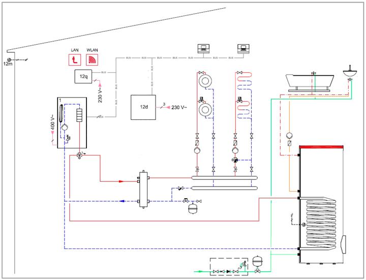 Принципиальная-схема-подключения-и-монтажа-Protherm-Скат-RAY