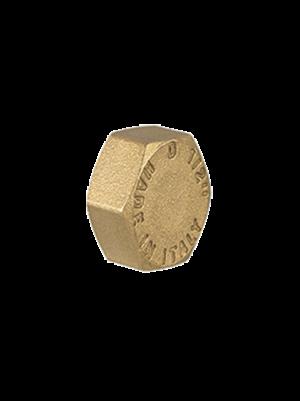 Пробка с внутренней резьбой латунная TDM Brass (Италия) арт. 107