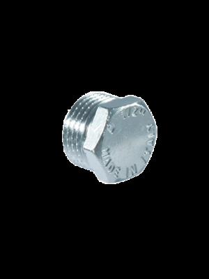 Пробка с наружной резьбой никелированная TDM Brass (Италия) арт. 106C