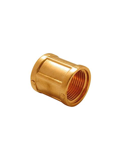 Муфта латунная резьбовая итальянского производителя TDM Brass