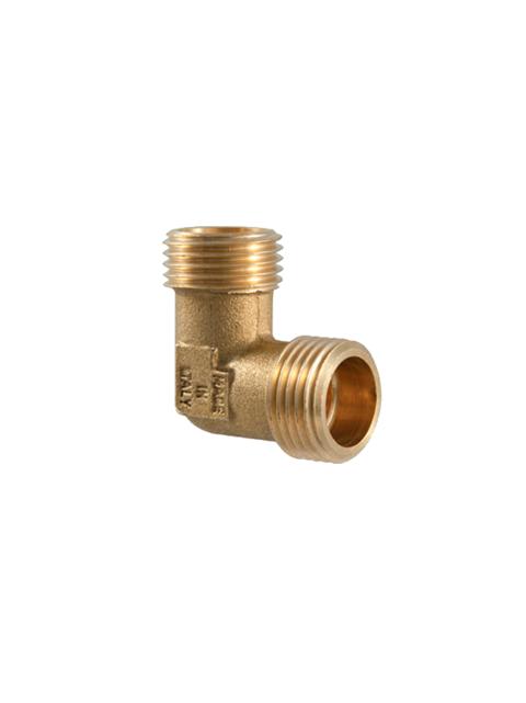 Угол (поворот) никелированный 90 градусов редукционный TDM Brass (Италия) арт. 210L