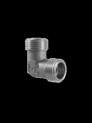 Угол (поворот) никелированный 90 градусов редукционный TDM Brass (Италия) арт. 210LN