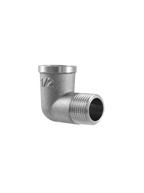 Угол (поворот) никелированный 90 градусов TDM Brass (Италия) арт. 210PN