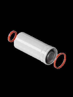 Удлинение 0,25 метра коаксиального дымохода 60/100 торговой марки KRATS
