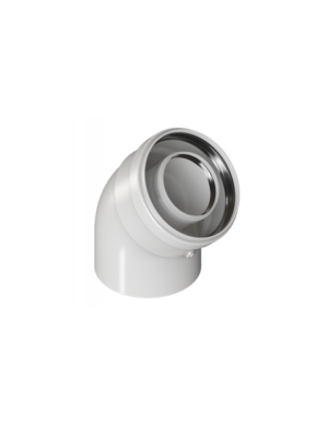 Отвод конденсационный 45 градусов 60/100 торговой марки KRATS арт. UK-45