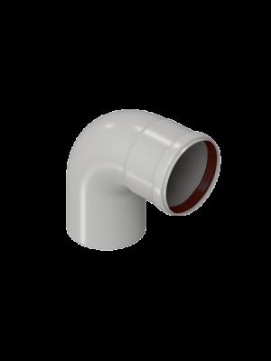 Угол конденсационный 90 градусов 80 диаметра торговой марки KRATS арт. W80-90LN