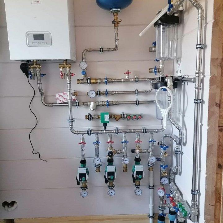 монтаж газового котла protherm по системе первичных колец в Минском районе