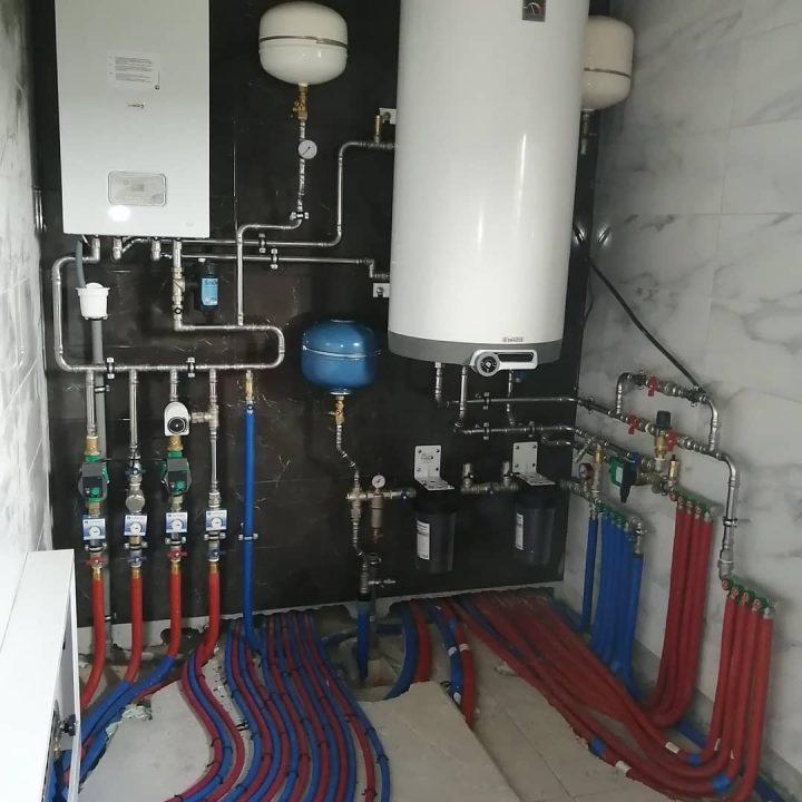 монтаж отопления и водоснабдения в минске с бойлером drazice
